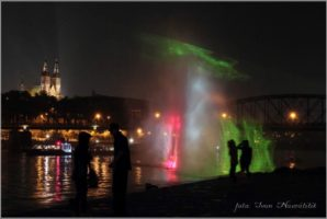 vodní show z New Yorku v centru Prahy